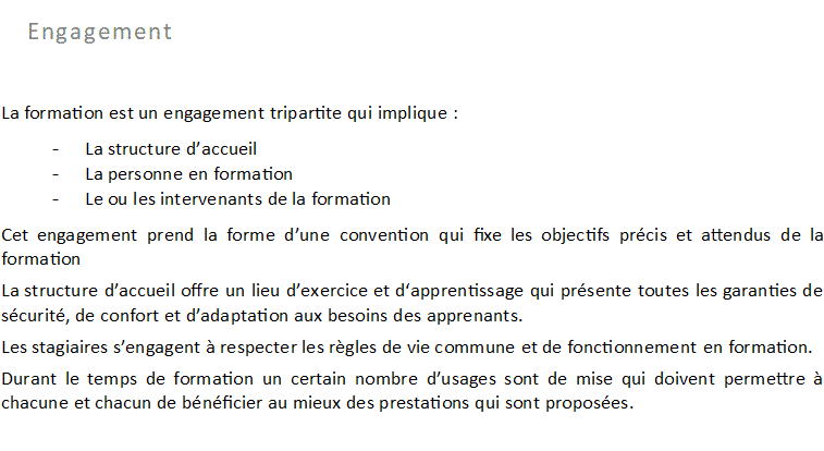 Conditions d'accueil 2