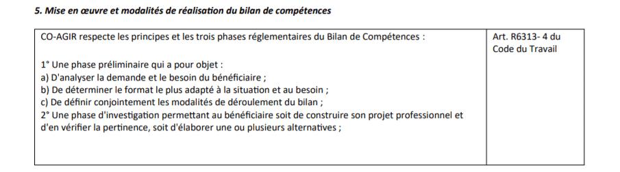 charte du bilan de compétence partie 3.